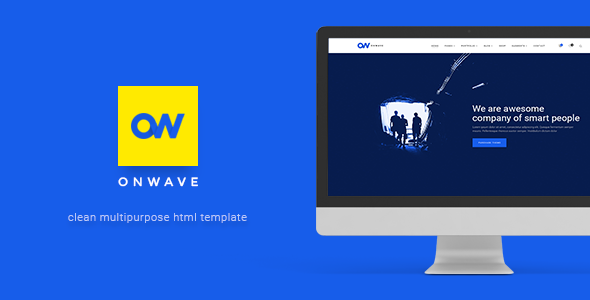 OnWave — Multipurpose Responsive HTML Template