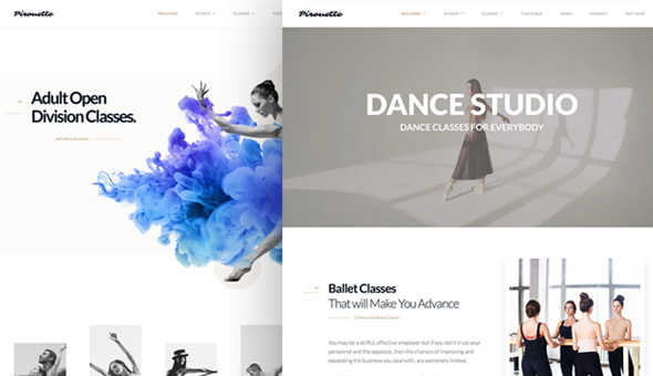 Image of Dance WordPress Theme - Dancing Academy
