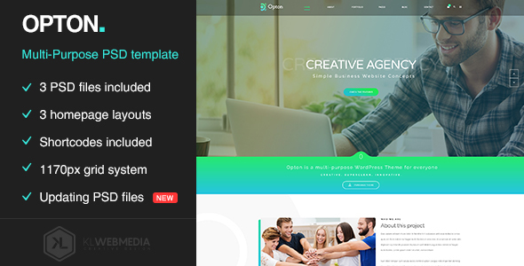 Opton – Multi-Purpose PSD Template