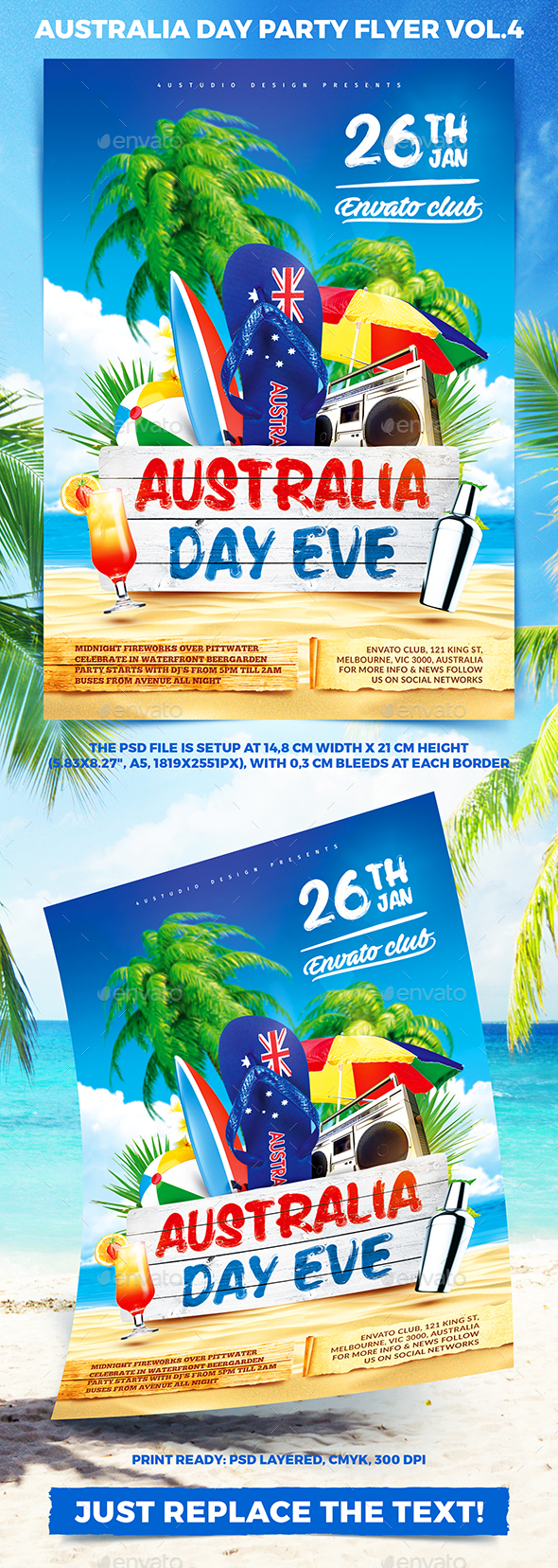 Australia Day Party Flyer vol.4 - Holidays Events