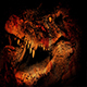 Huge Crocodile Opens Mouth In Flames Abstract - VideoHive Item for Sale