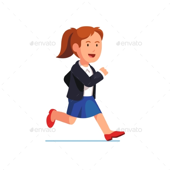 Determined Business Woman Running Fast - Concepts Business