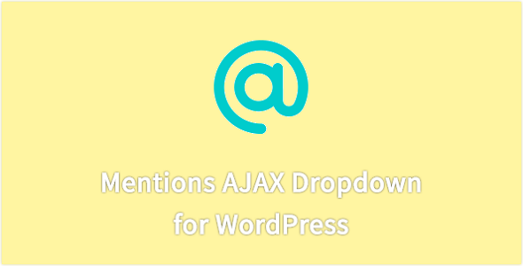 Mentions AJAX Drop-down - CodeCanyon Item for Sale