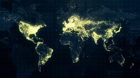 World map night lighting rollback 4k by rodionova videohive play preview video gumiabroncs Image collections