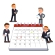 Company Business Team Planning on a Big Calendar - GraphicRiver Item for Sale