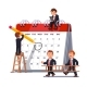 Business Team Planning Together on a Big Calendar - GraphicRiver Item for Sale