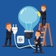 Company Business Man Team Doing Maintenance - GraphicRiver Item for Sale