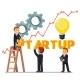 Businessman Team Making Startup Word - GraphicRiver Item for Sale