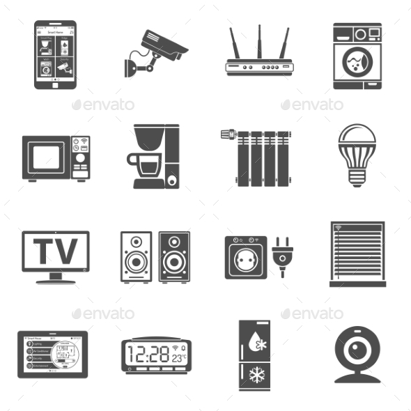 Smart House and Internet of Things Icons Set - Concepts Business