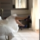 Bride Sitting on Bed - VideoHive Item for Sale