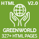 GreenWorld - Nonprofit Environment Responsive HTML5 Template - ThemeForest Item for Sale