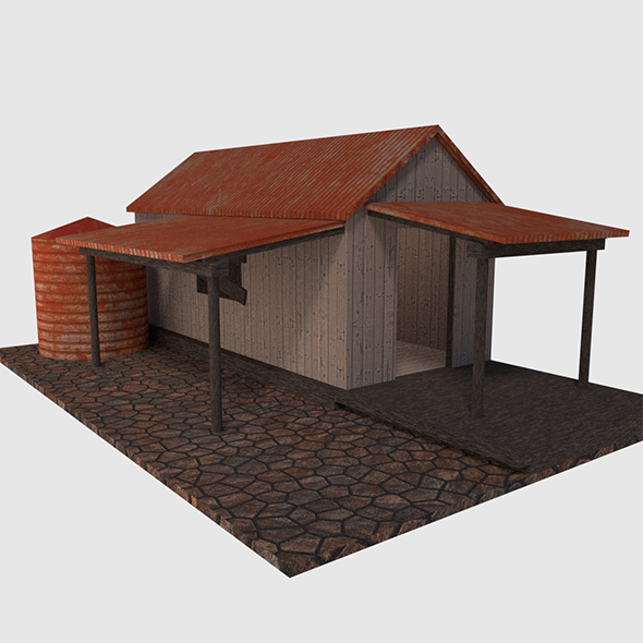 Rusty Old Shack - Game Ready - 3DOcean Item for Sale