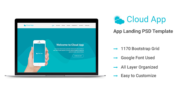 Cloud App Landing Page Template