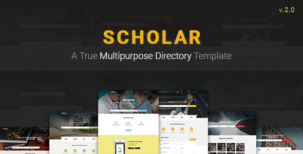 Scholar - Multipurpose Directory Template - Business Corporate