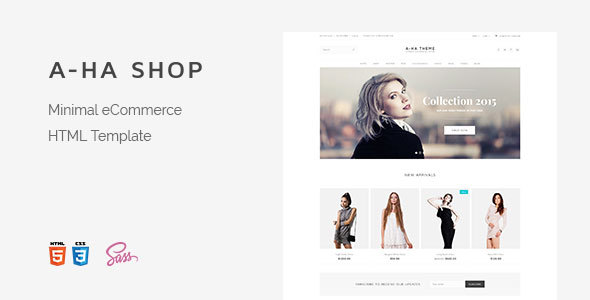 A-ha Shop | Minimal Elegant eCommerce HTML Template