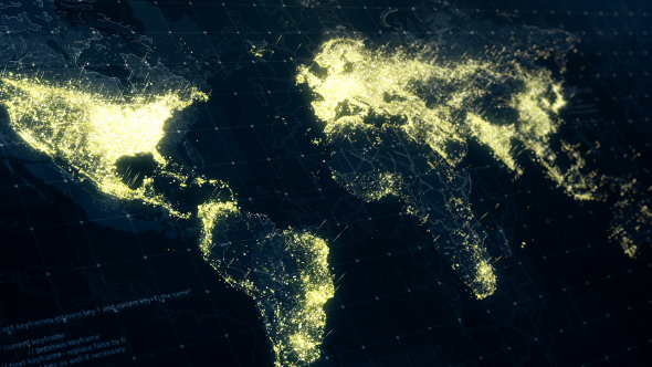 World map at night 4k by rodionova videohive play preview video gumiabroncs Choice Image