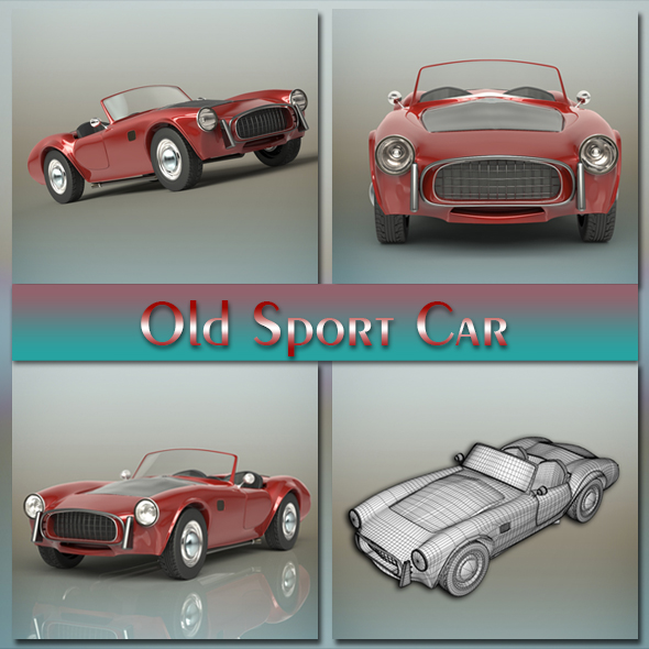 Old sport car - 3DOcean Item for Sale