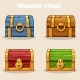 Closed Colored Wooden Treasure Chest - GraphicRiver Item for Sale