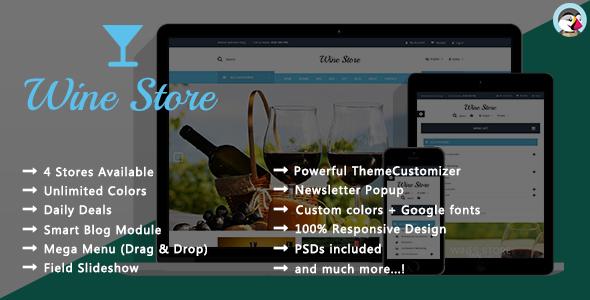 Wine Store – Responsive Prestashop Theme