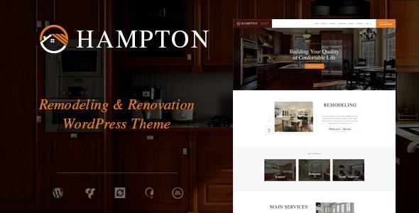 Hampton | Home Design and House Renovation WordPress Theme | Digital Market 1