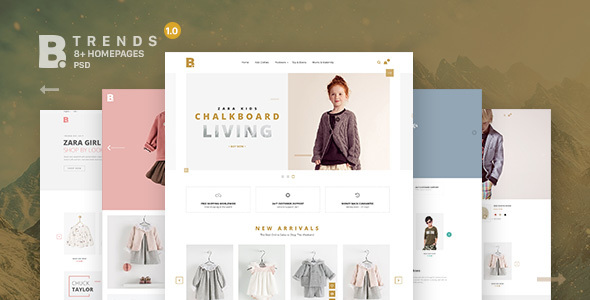 B – Trends Ecommerce Multipurpose PSD Template