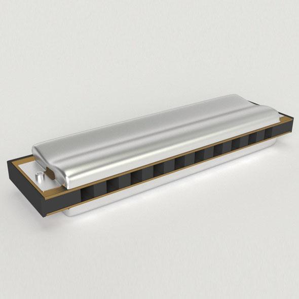 Harmonica - 3DOcean Item for Sale