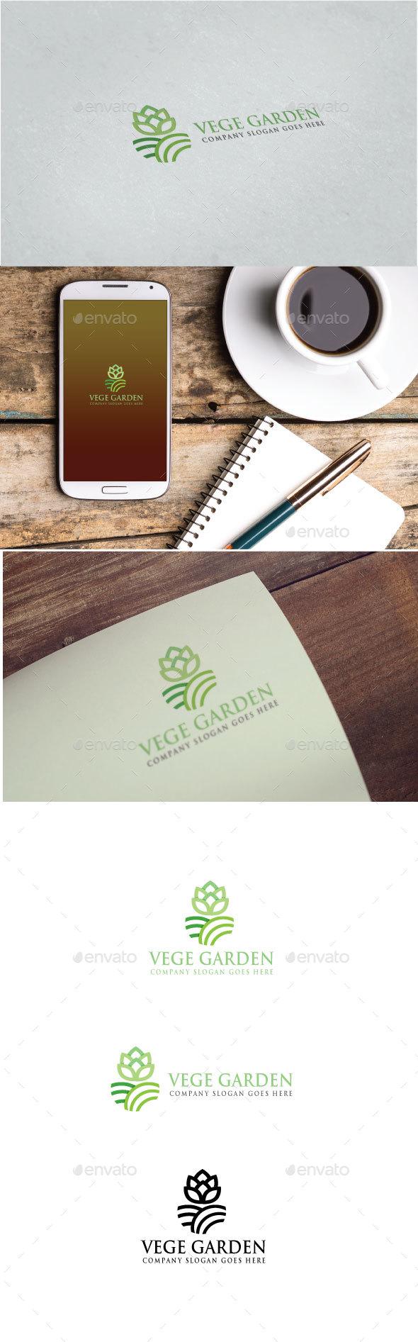 Vege Garden Logo - Nature Logo Templates