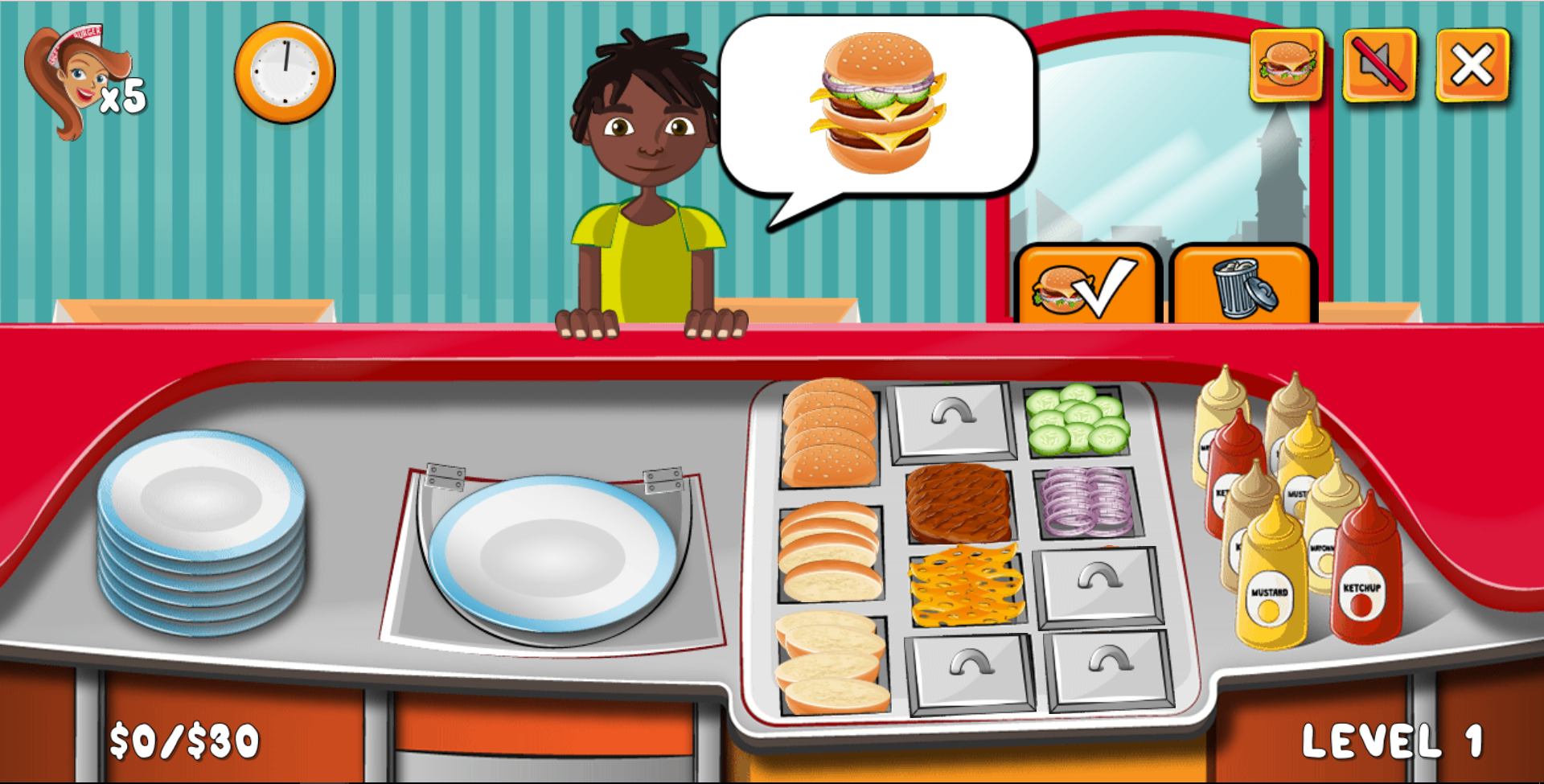 Burger Time - HTML5 Construct Cooking Game by codethislab ...
