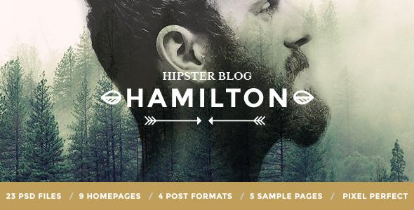Hamilton – Hipster Blog PSD Template