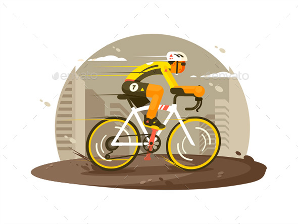 Sport Athlete Cyclist - People Characters