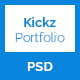Kickz Portfolio PSD Template - ThemeForest Item for Sale