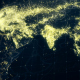 World Map Night Lighting Close View 4K - VideoHive Item for Sale