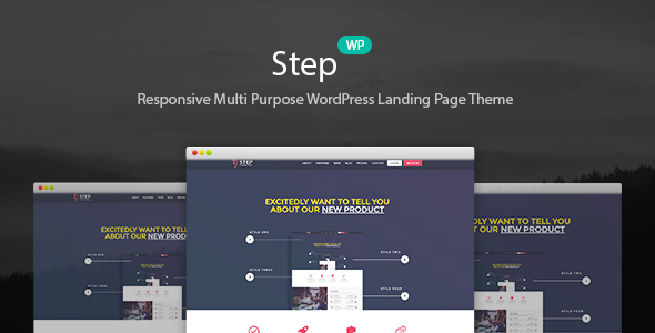Step – Startup WordPress Landing Page Theme