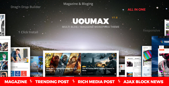 Youmax - Multi Magazine / Blog WordPress Theme - News / Editorial Blog / Magazine