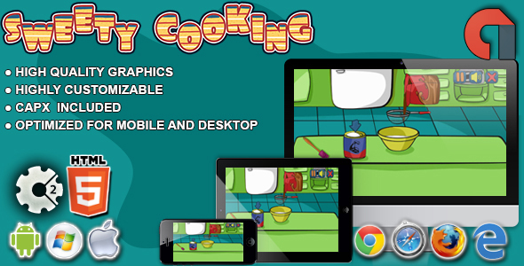 Sweety Cooking:Chocolate Cake-HTML5 Construct 2 Game - CodeCanyon Item for Sale