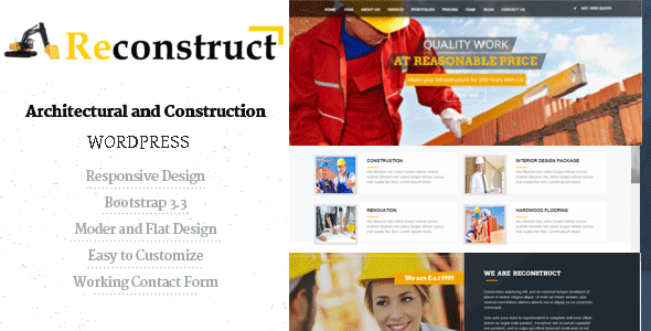 Reconstruct- Construction and Builder WP Theme