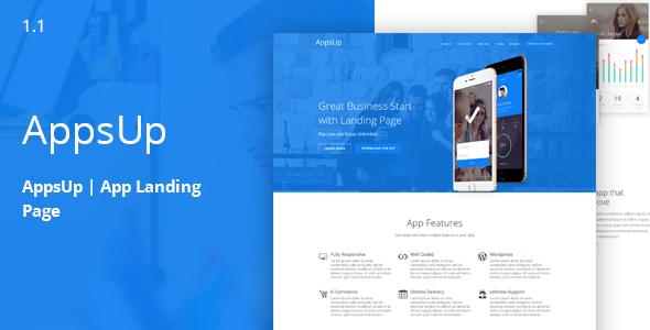 AppsUp – App Landing HTML Template