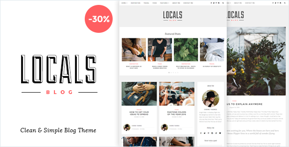Locals – Clean & Simple Blog Theme
