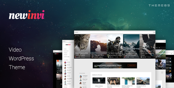 Newinvi – A Video Magazine WordPress Theme
