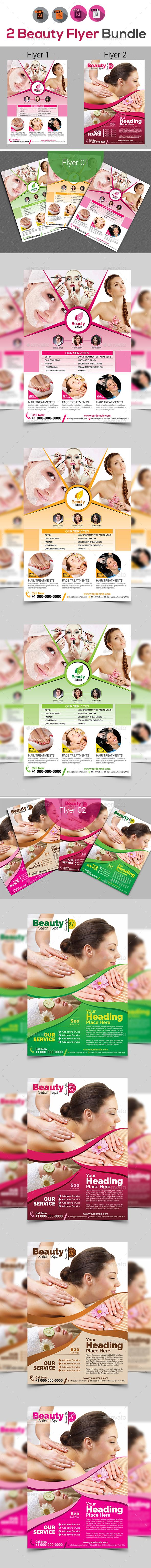 Beauty Flyer Bundle V5 - Corporate Flyers