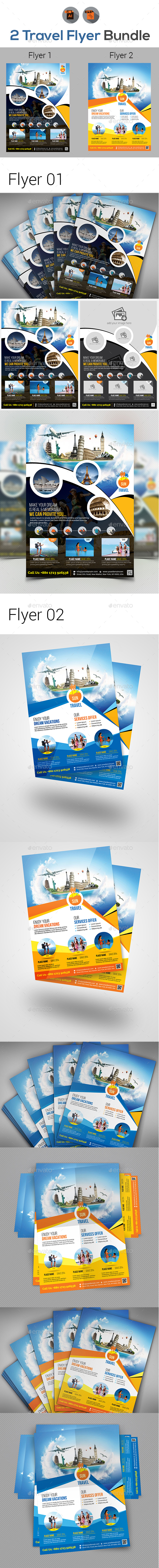 Travel Flyer Bundle V5 - Corporate Flyers