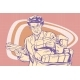 Retro Postman, Delivering Letters - GraphicRiver Item for Sale