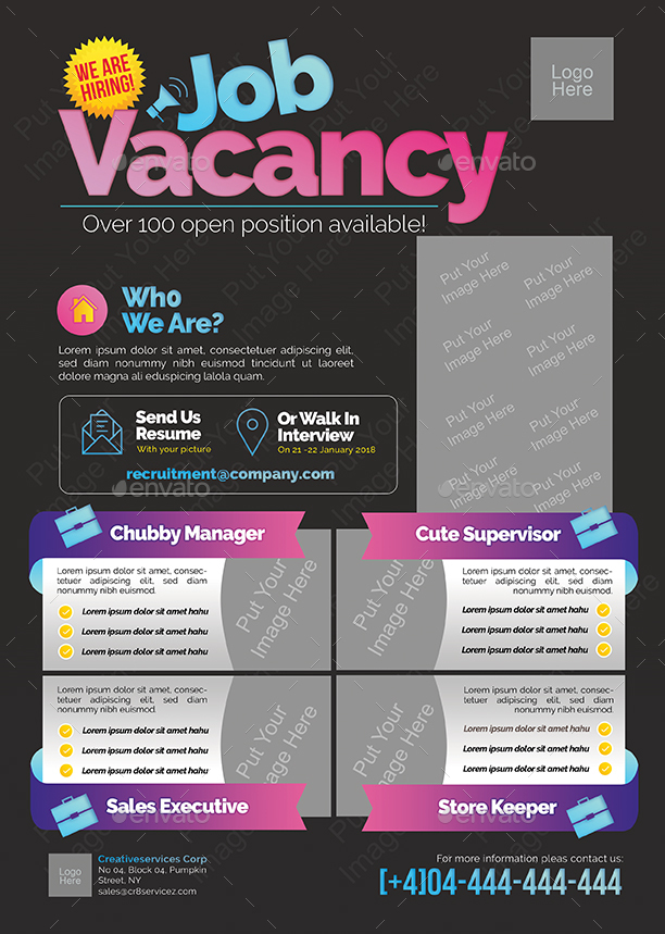 job vacancy flyer by shamcanggih