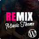 Remix - Music band and Musician AJAX WordPress Theme Nulled