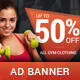 Active - Sport Sales PSD Banner Template - GraphicRiver Item for Sale