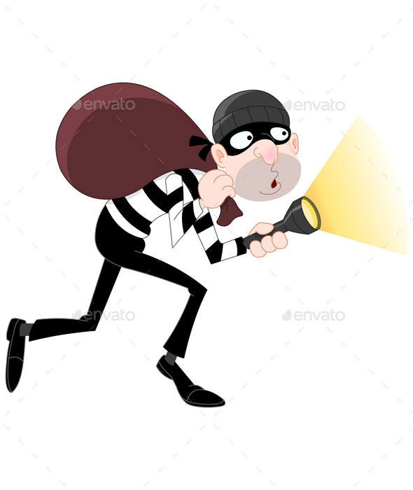 Cartoon Thief - People Characters