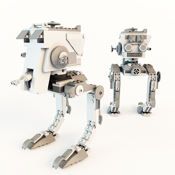 Star Wars AT-ST Lego - 3DOcean Item for Sale