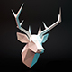 Deer head lowpoly - 3DOcean Item for Sale