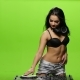 Girl Dj Sexy Dance and Controls the Decks. Green Screen - VideoHive Item for Sale