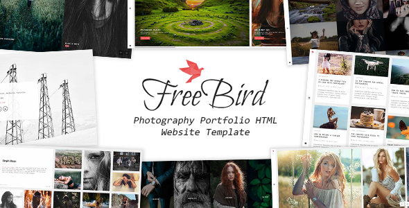FreeBird – Photography Portfolio HTML Website Template